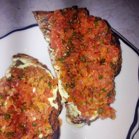 "Spicy Tuna ""Bruschetta"""