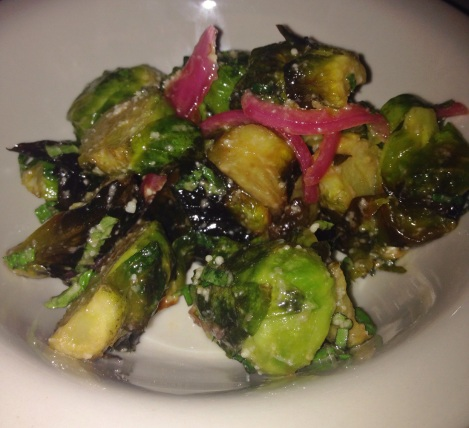 Brussels Sprouts with Pickled Red Onions