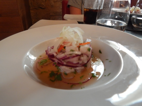 Sea Bass Ceviche with Citrus and Red Onion