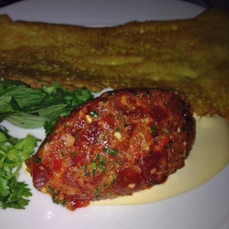 Tuna Tartare, Bird's Chili (spicy!!), and Crepe Indochine