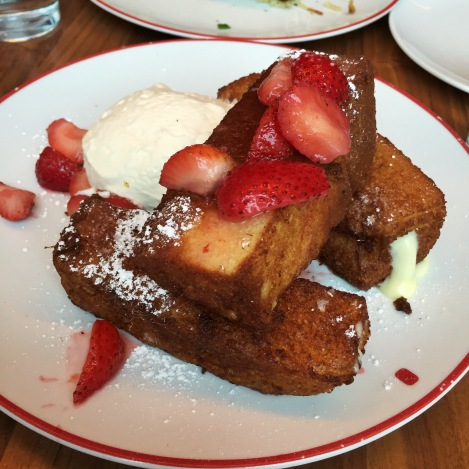 Stuffed French Toast with Strawberries and Cream Founding Farmers Washington, D.C. Foggy Bottom GWU