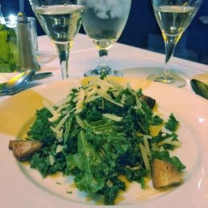 Kale Caesar Salad, Croutons